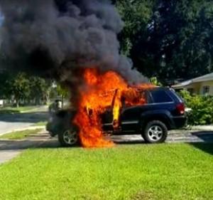 Внимание: Палят автомобили