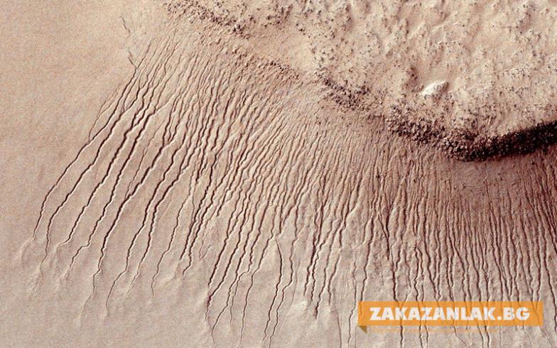 NASA откри доказателства за течаща вода на Марс