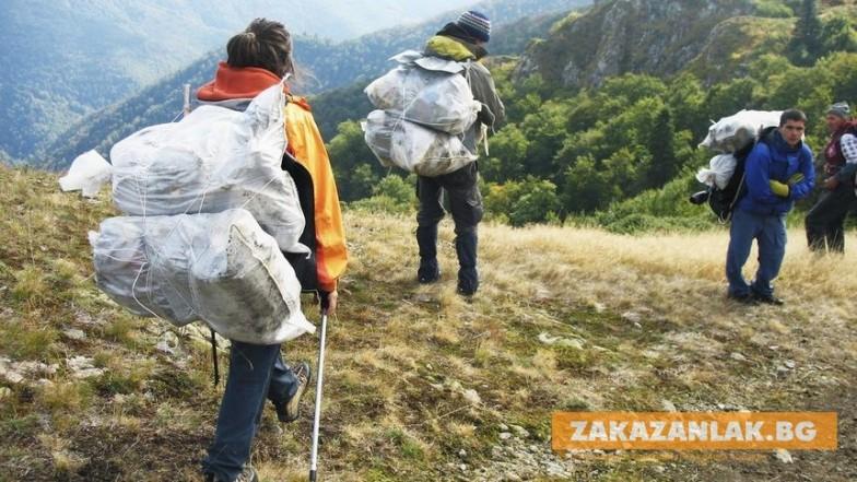 За седмица събраха 14 тона боклук  от Балкана