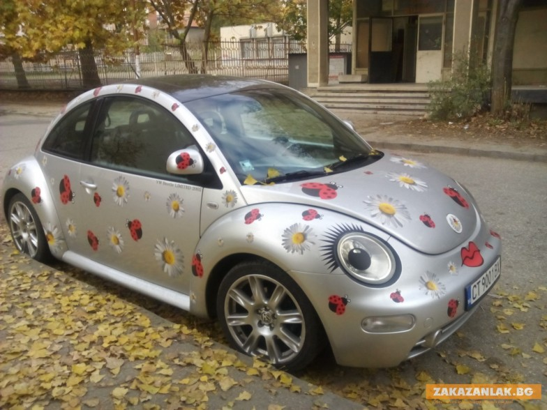 Volkswagen Beetle намига на казанлъшка улица