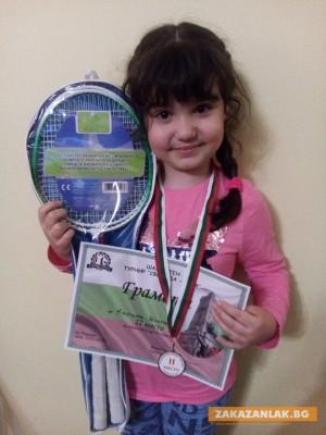 Сребро за 6-годишната шахматистка Калина Шипкова