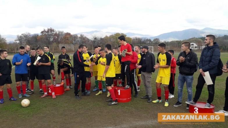 Отборът на Хуманитарната първи по футбол