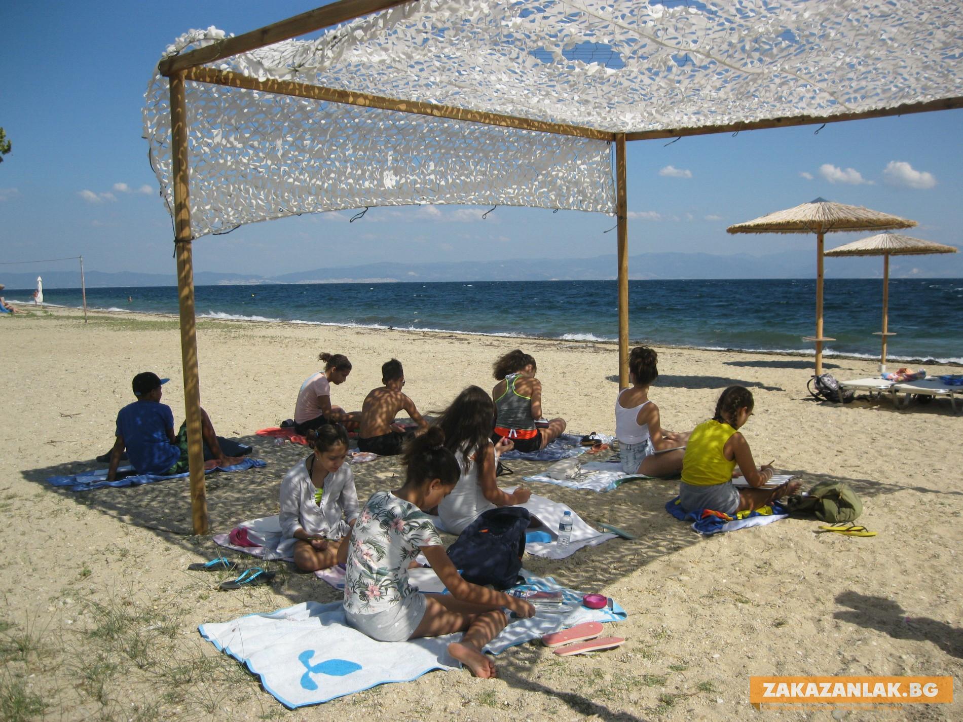 Малки художници от Казанлък нарисуваха лятото на Тасос