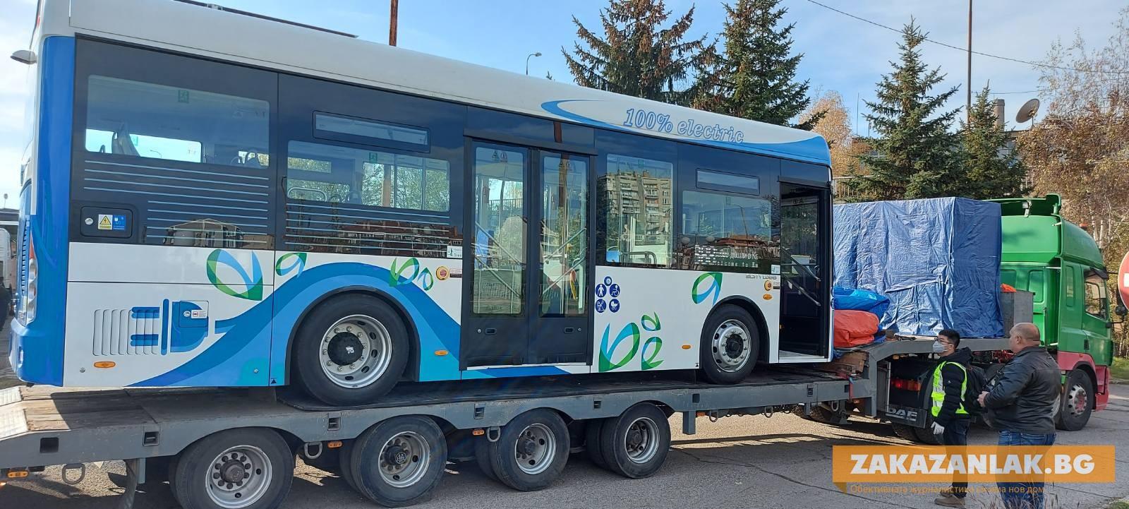 Първите електробуси вече са в Казанлък
