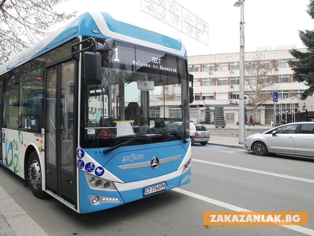 Пускат абонаментни карти за новите електробуси в Казанлък