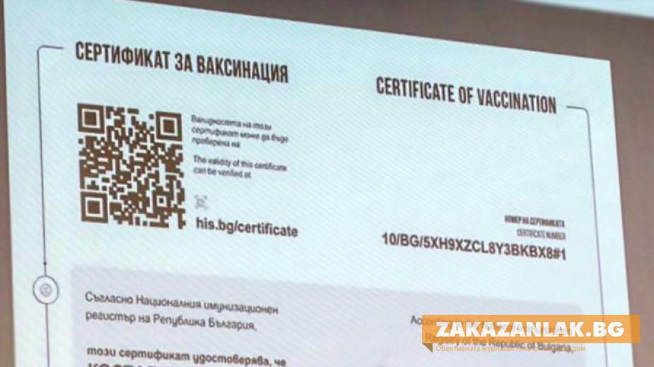 Безплатен Сертификат за ваксинация